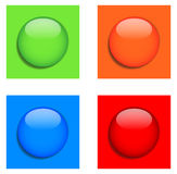Blank buttons Royalty Free Stock Image