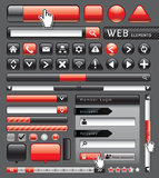 Blank buttons for website and app. Vector illustration Stock Photography