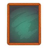 Blank cafe or school chalkboard in wooden frame. Isolated vector illustration. Stock Photography