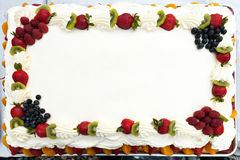 Blank Cake with Fruit Royalty Free Stock Images