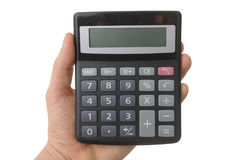 Blank calculator with clipping paths Royalty Free Stock Photography