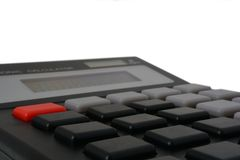 Blank calculator. A calculator with no numbers on its keys Stock Image