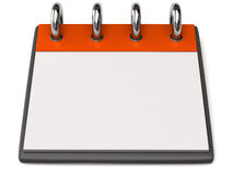 A blank calendar Stock Image