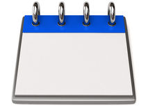 A blank calendar Royalty Free Stock Photography