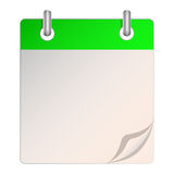 A blank calendar Royalty Free Stock Photography