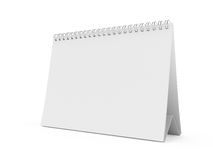 Blank calendar. 3d render of isolated blank white calendar Stock Image