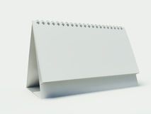 Blank calendar. On the white background Royalty Free Stock Photography