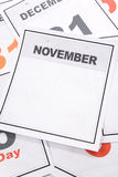 Blank Calendar royalty free stock photos