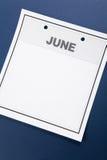 Blank Calendar Stock Image