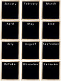 Blank Calendar of Chalkboards Royalty Free Stock Images