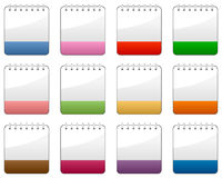 Blank Calendar Colorful Icons Set Stock Images
