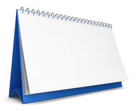 Blank calendar. 3d illustration on white background Royalty Free Stock Images