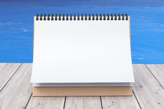 Blank Calendar in front of Ocean. 3d Rendering. Blank Calendar in front of Ocean extreme closeup. 3d Rendering Royalty Free Stock Photo