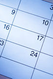 Blank calendar with generic date squares Royalty Free Stock Images