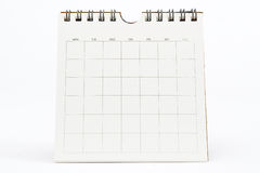 Blank Calendar Isolated on White Royalty Free Stock Photography