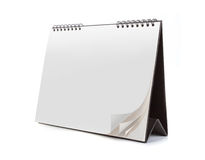 Blank calendar isolated on white background Stock Photography