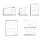 Blank calendar isolated on white Stock Photos