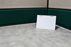 Blank calendar on office desk Stock Photo