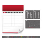 Blank Calendar for planning template Royalty Free Stock Photography