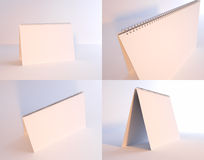 Blank calendar. Set of 4 blank desktop calendars Royalty Free Stock Photography