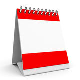 Blank calendar. Blank calendar on white background. 3D illustration Royalty Free Stock Images