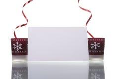 blank candles card christmas holding Στοκ φωτογραφίες με δικαίωμα ελεύθερης χρήσης