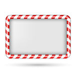 Blank candy cane frame isolated on white Royalty Free Stock Photography