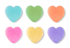 Free Blank Candy Valentines Hearts Royalty Free Stock Image - 85480266
