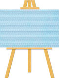 Blank Canvas on an Artist's Easel (Copyspace) Stock Image