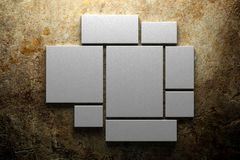 Blank canvas background. Blank canvas on concrete background Royalty Free Stock Photos