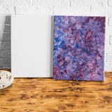 The blank canvas and canvas with abstract oil painting. Royalty Free Stock Images