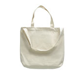Blank canvas cotton tote bag Stock Images