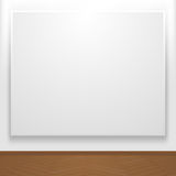 Blank canvas on display Royalty Free Stock Images