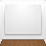 Blank canvas on display Stock Images