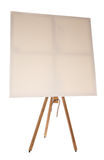 Blank canvas on easel. Studio cutout Royalty Free Stock Photography