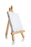 Blank canvas on easel Royalty Free Stock Image