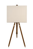 Blank canvas on an easel Stock Photo