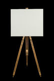 Blank canvas on an easel Stock Photography