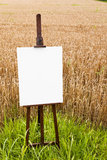 Blank canvas on an easel Royalty Free Stock Image