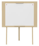 Blank Canvas on an Easel isolated on white. 3d illustration Royalty Free Stock Photos