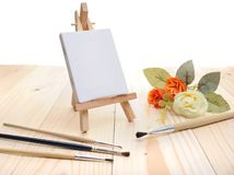 Blank canvas on easel Royalty Free Stock Photo