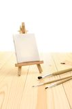 Blank canvas on easel Royalty Free Stock Photography