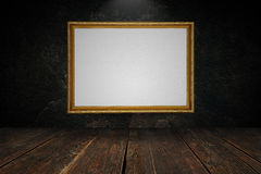 Blank canvas in a gold frame Royalty Free Stock Photography