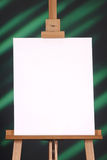 Blank canvas on a green and black background Royalty Free Stock Image