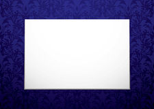 Blank canvas on purple Stock Photography