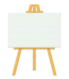 Blank Canvas with Stand Stock Photo