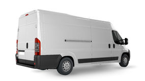 Delivery Van Mockup Stock Images