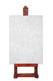 A blank canvas on a wooden easel Royalty Free Stock Photography