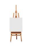 Blank canvas on a wooden easel Stock Photos