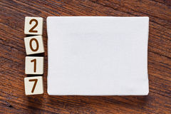 Blank canvas with year 2017 numeric Stock Image